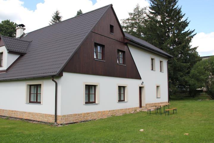 Velká chalupa s vlastním rybníčkem - Olešnice v Orlických horách - Hytte (i sveitsisk stil)