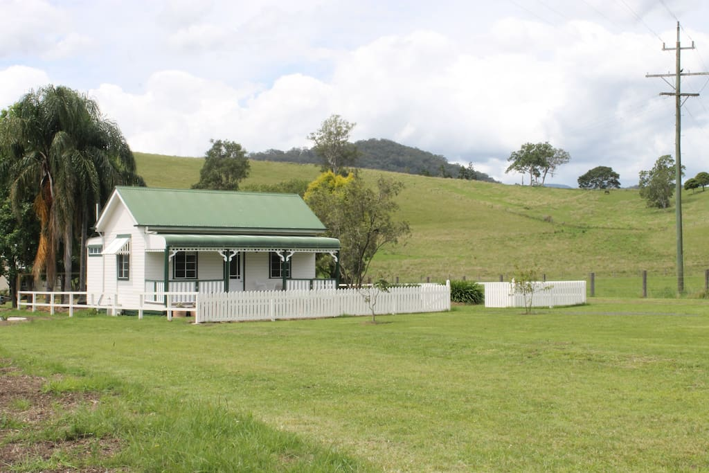 Front view of the cottage from the road