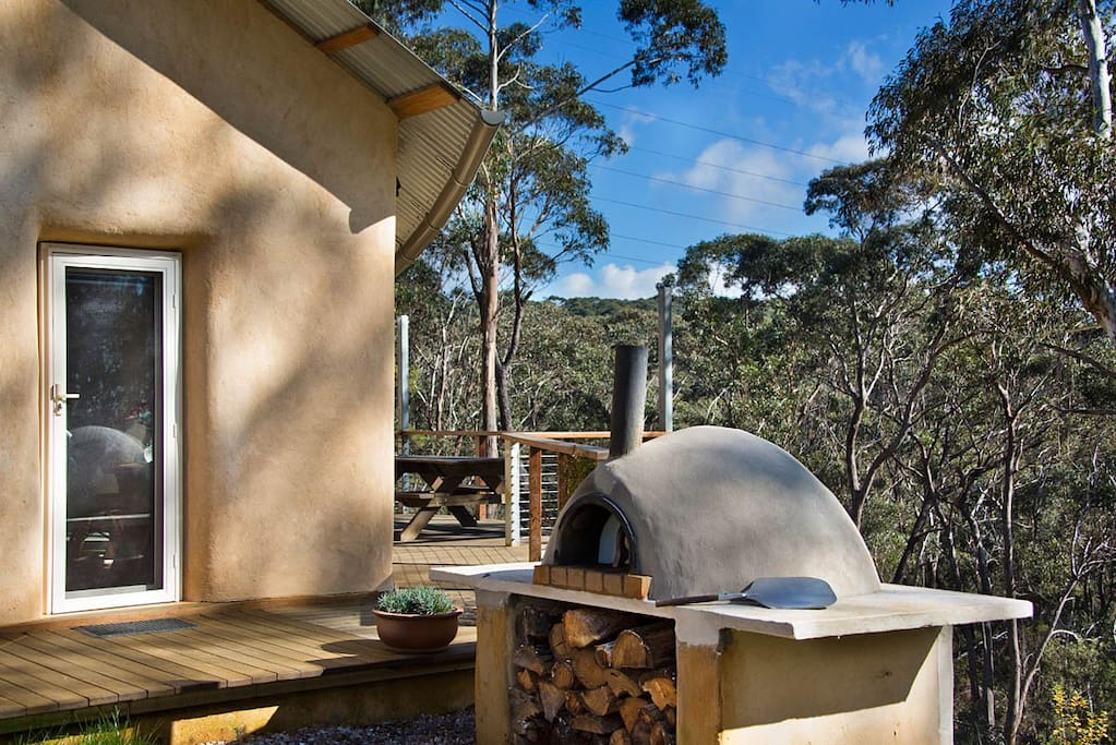 The wood-fire pizza oven