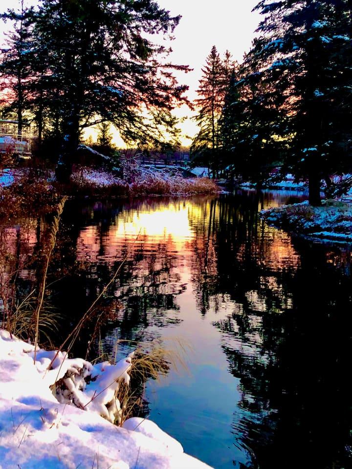 Diamonds On The Water on Lac Courte Oreilles