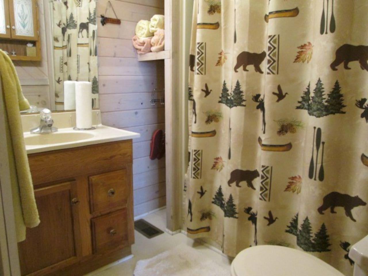 Bathroom: tub and shower