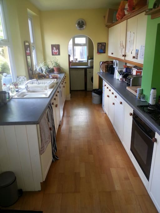 Kitchen with dishwasher, microwave help yourself breakfast