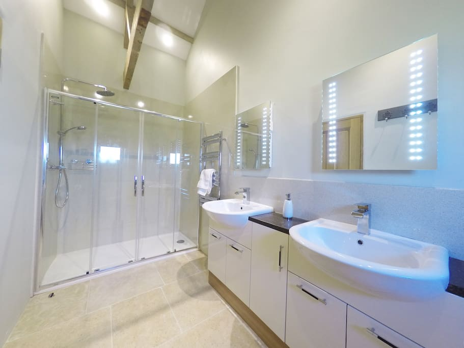 The Stable  bathroom is fantastic with a large walk-in shower