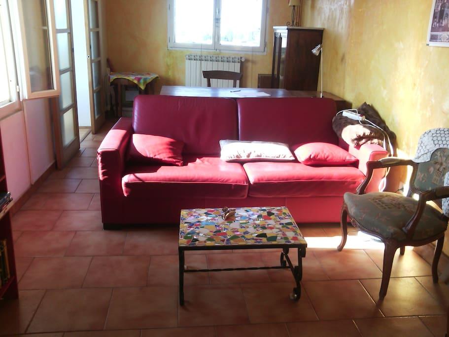 Canapé lit confortable 140/190