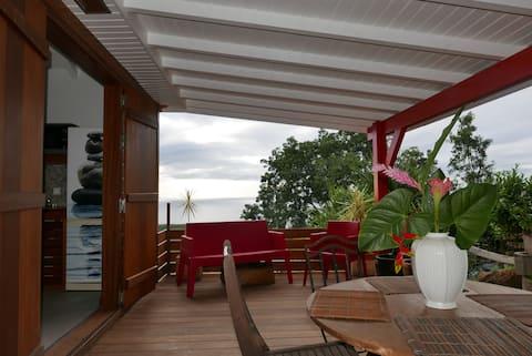 Studio avec superbe vue sur la Mer des Caraibes