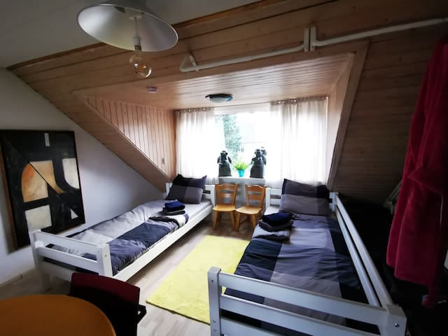 TWO SINGLE BEDS IN THE APPARTMENT