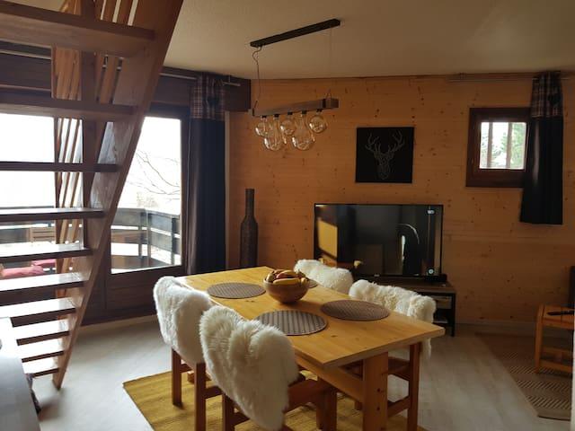Appartement 6 personnes vu sur les montagnes