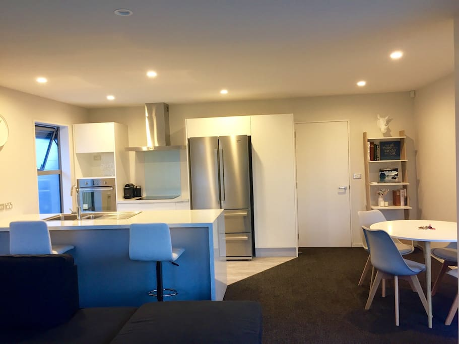 Brand new kitchen and dining area for guests to enjoy.
