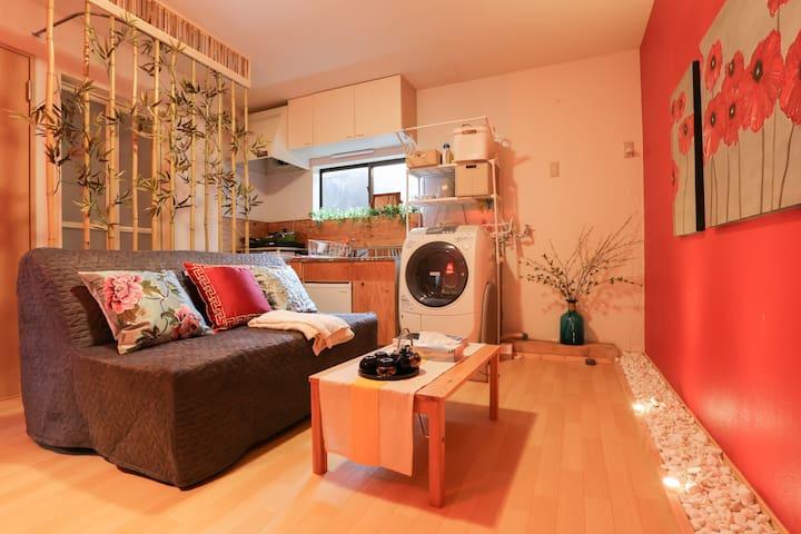 横浜中華街に住む! 2号室、新築2階建をまるまる貸切!元町中華街駅徒歩6分、羽田空港バス30分