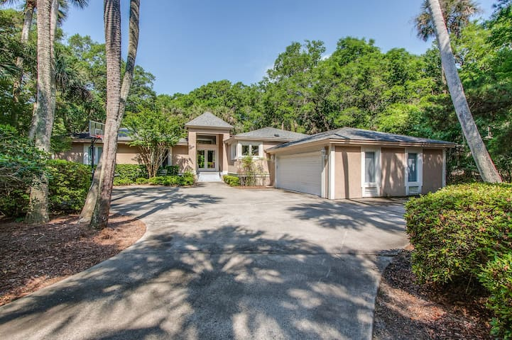 Stylishly-decorated home w/ an open layout & a private pool - walk to the beach!