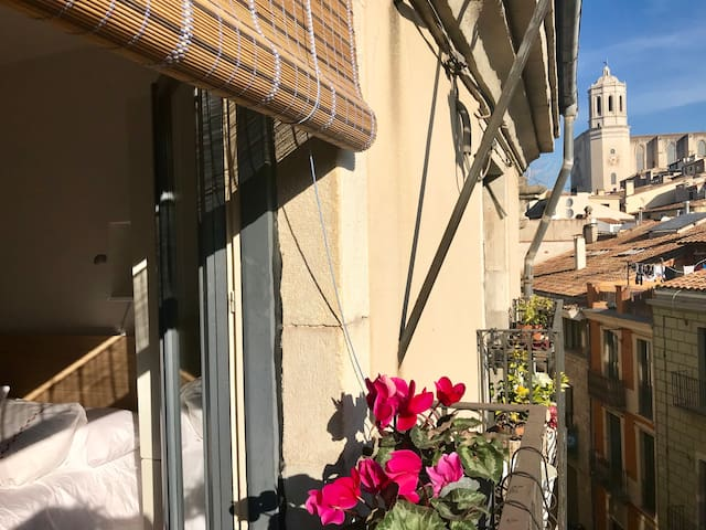 Top-floor apartment in the heart of Girona