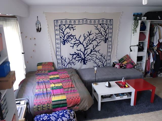 Studio calme de 24m² avec cuisine et salle d'eau