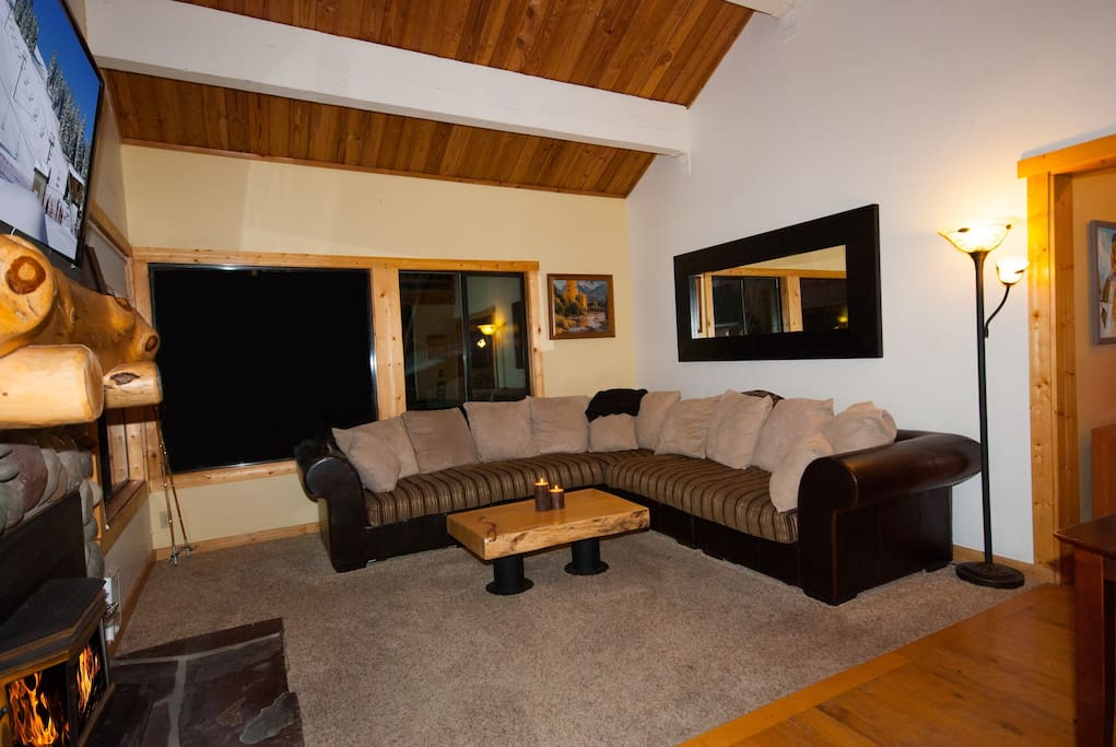 Large Sectional Couch in Living Area