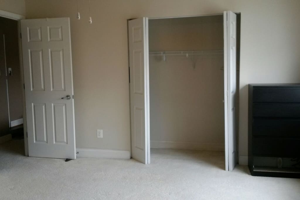 Large closet and space for storage