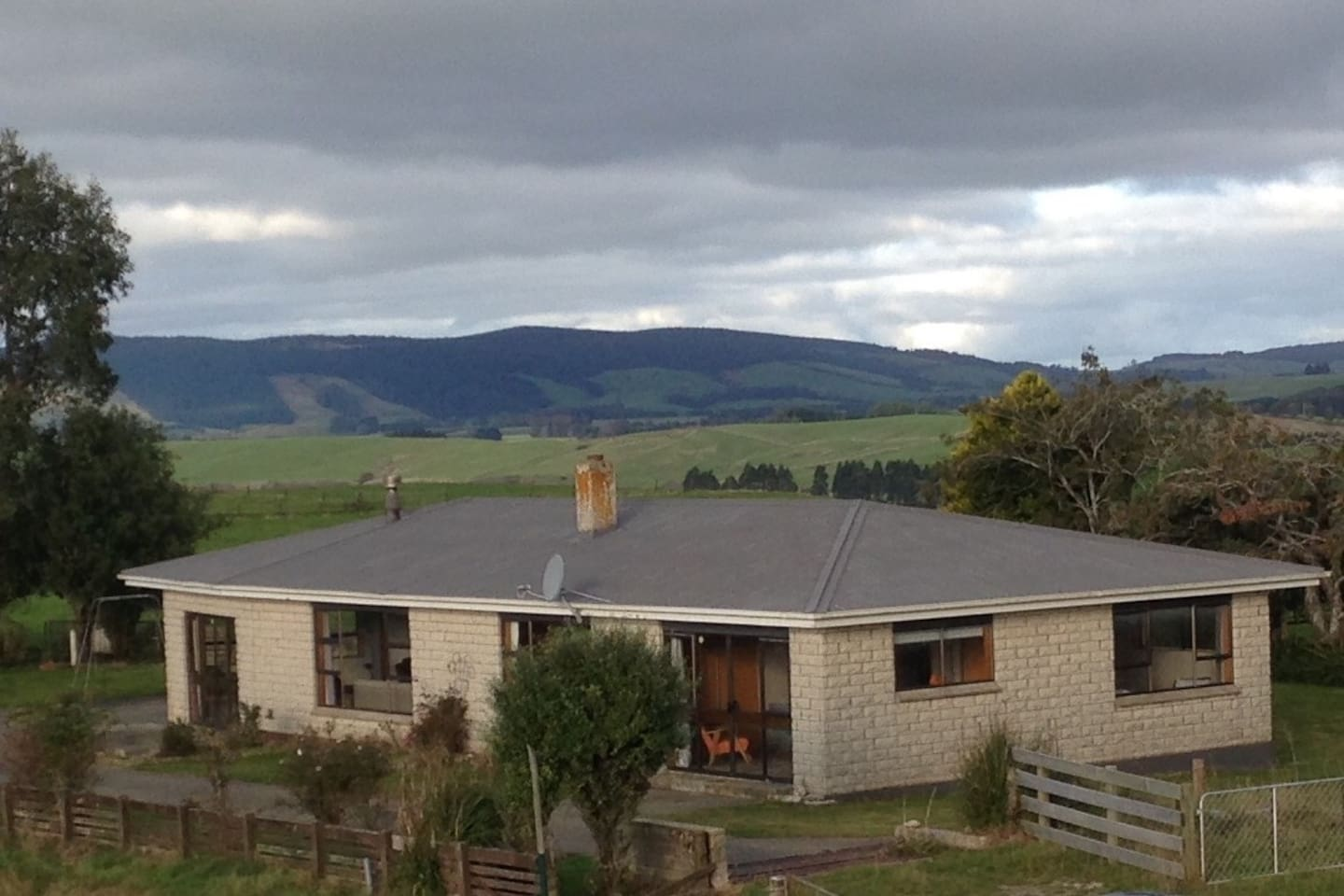 Lovely big farm house that has the best views and sits to the sun all day and is extremely warm.