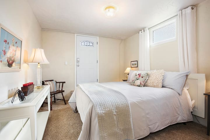 Easy and Private access- from outside,  enter into The Master Bedroom #1.