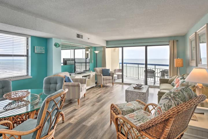 ~*bEaChy*~ Adorable Cherry Grove Oceanfront Condo