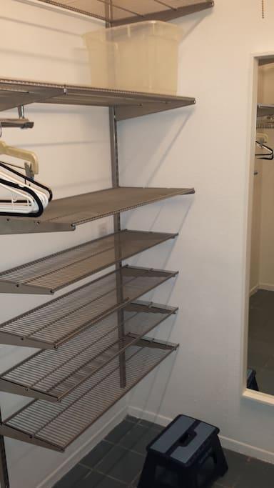Walk in Closet , plenty of storage