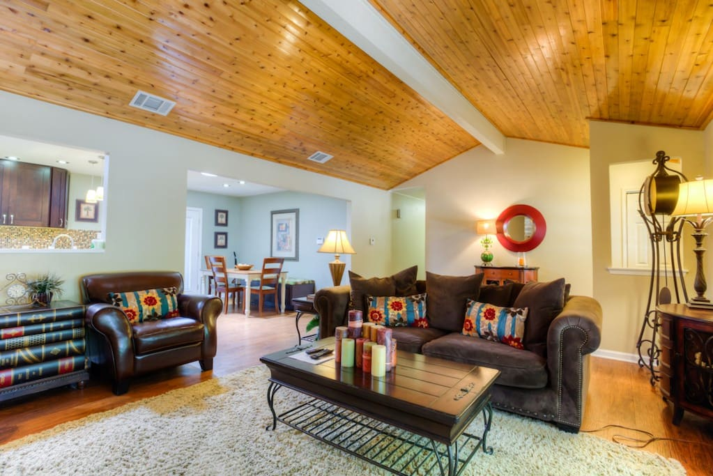 Open concept living with enough space to relax and enjoy time with family and friends.