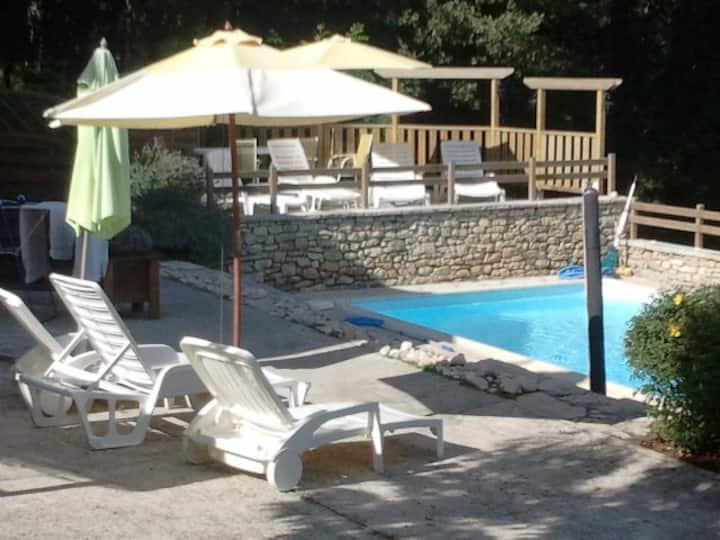 Gîte avec piscine Cahors/Sarlat/Rocamadour