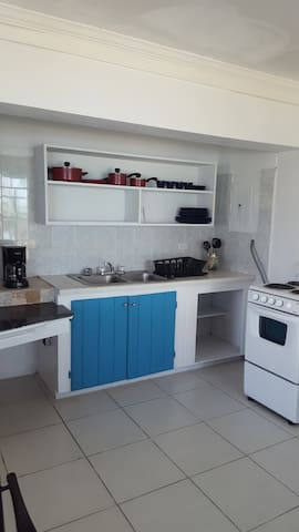 Kitchen with all amenities shown included.