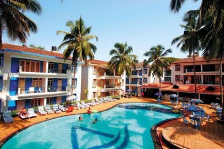 Manari Bays-2BR Classy Apt in 3* resort,Candolim