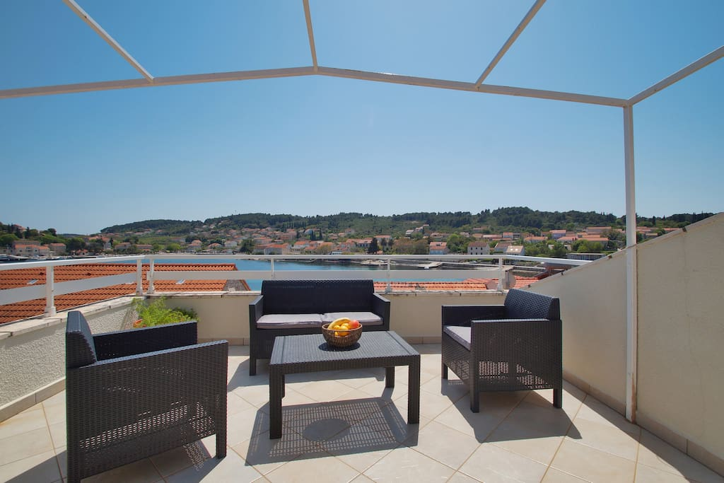 Large top floor balcony