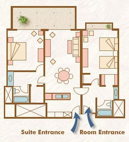 Floor plan in my unit is the same layout except reversed (master on right, etc)