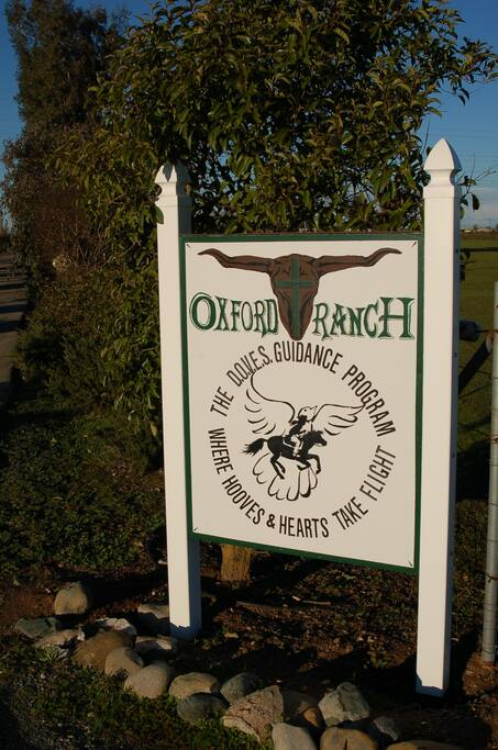 Our Ranch Sign at the Entrance to the ranch.
