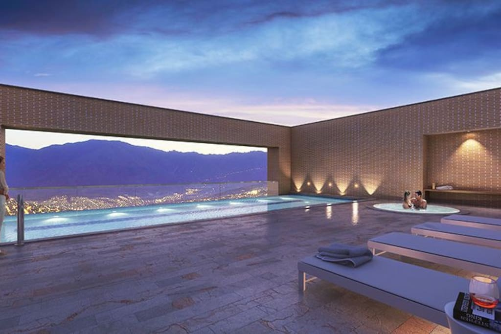 Enjoy the view of the city in a beautiful pool!