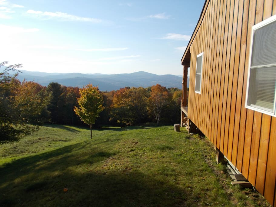 Awe-inspiring 180 degree distant and local views of Vermont's mountain range and local farms!!
