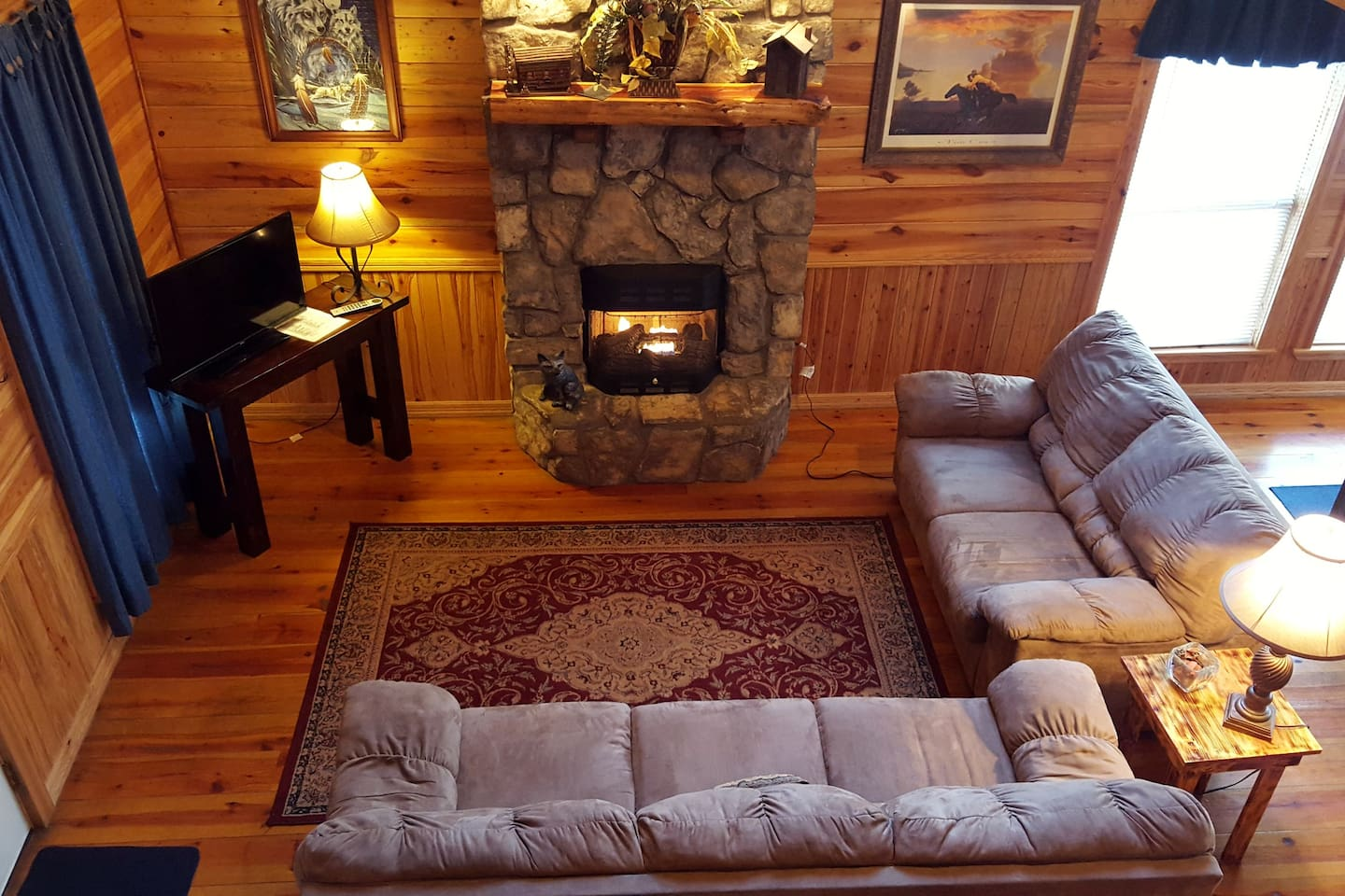 silverfox sleeps 6 tub fireplace pet cabins for rent in