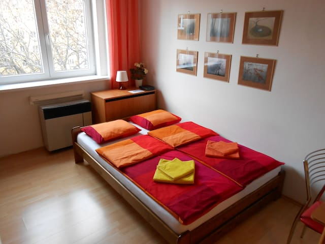 Apartment 15 min. to center, wifi - Praha 10 - Strašnice - Appartement