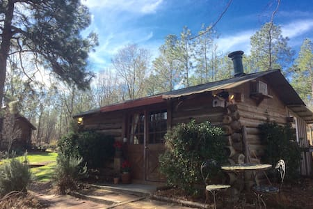 Congaree Vines - Rustic Log Cabin on a Vineyard!