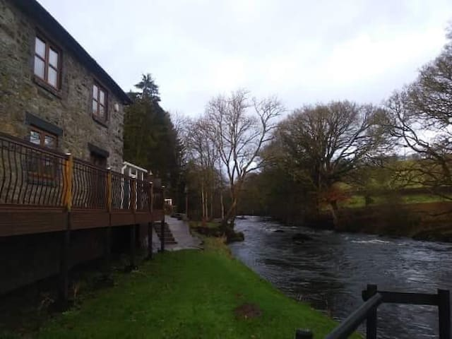 Old Mill house on the River Banwy