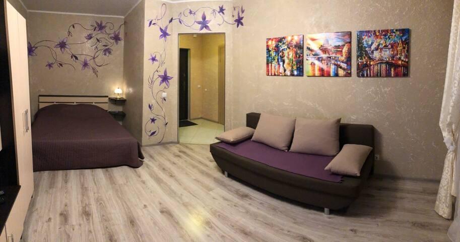 Чистая уютная квартира с кроватью!