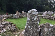 Din Llygwy, a ancient Celtic village around 3 miles away.