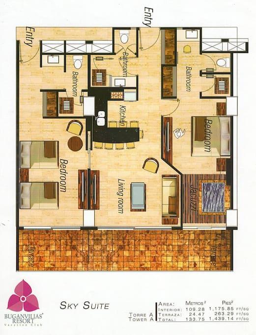 Floor Plan os Suite 2256/2257