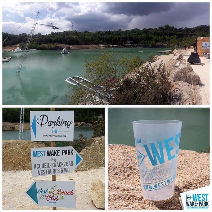 Aquapark, wakepark,restaurant vu sur la carriére,insolite!