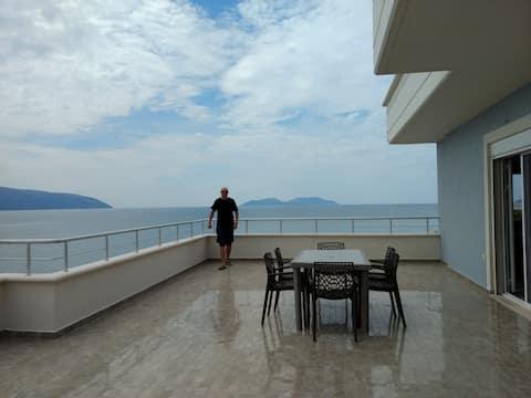 Квартира на пляже с фантастическим видом, удобная
