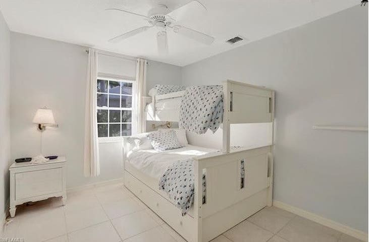 Bunk room sleeps 2-3. Pack and play also available for your tiny ones.