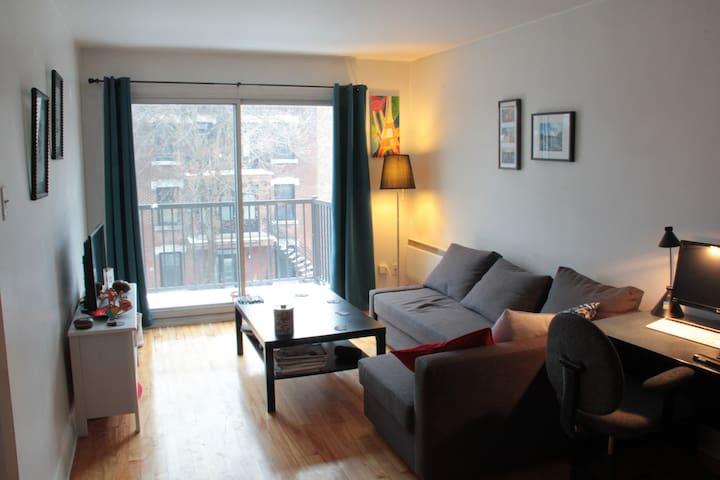 Appartement lumineux et calme, proche centre-ville - Montréal