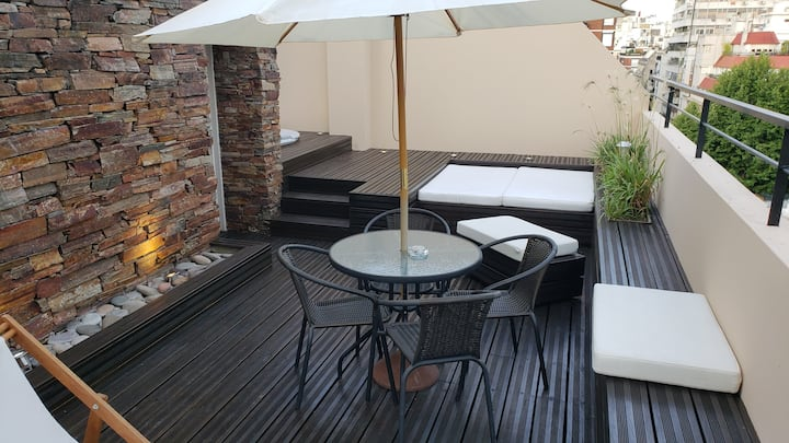 Recoleta  Brilliant Triplex Jacuzzi & BBQ for 6 p