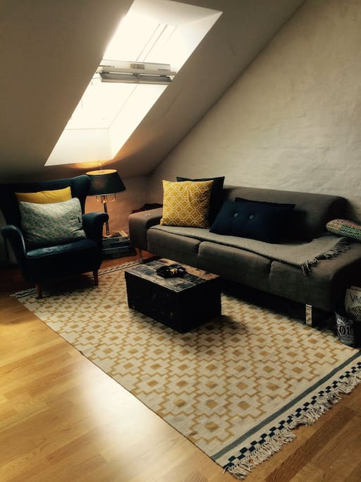 Enjoy our cozy and sunny living room.