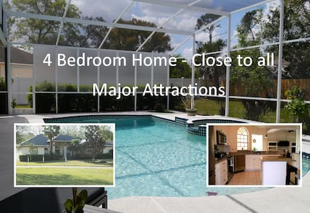 4 Bdrm Pool Home Convenient to Major Attractions