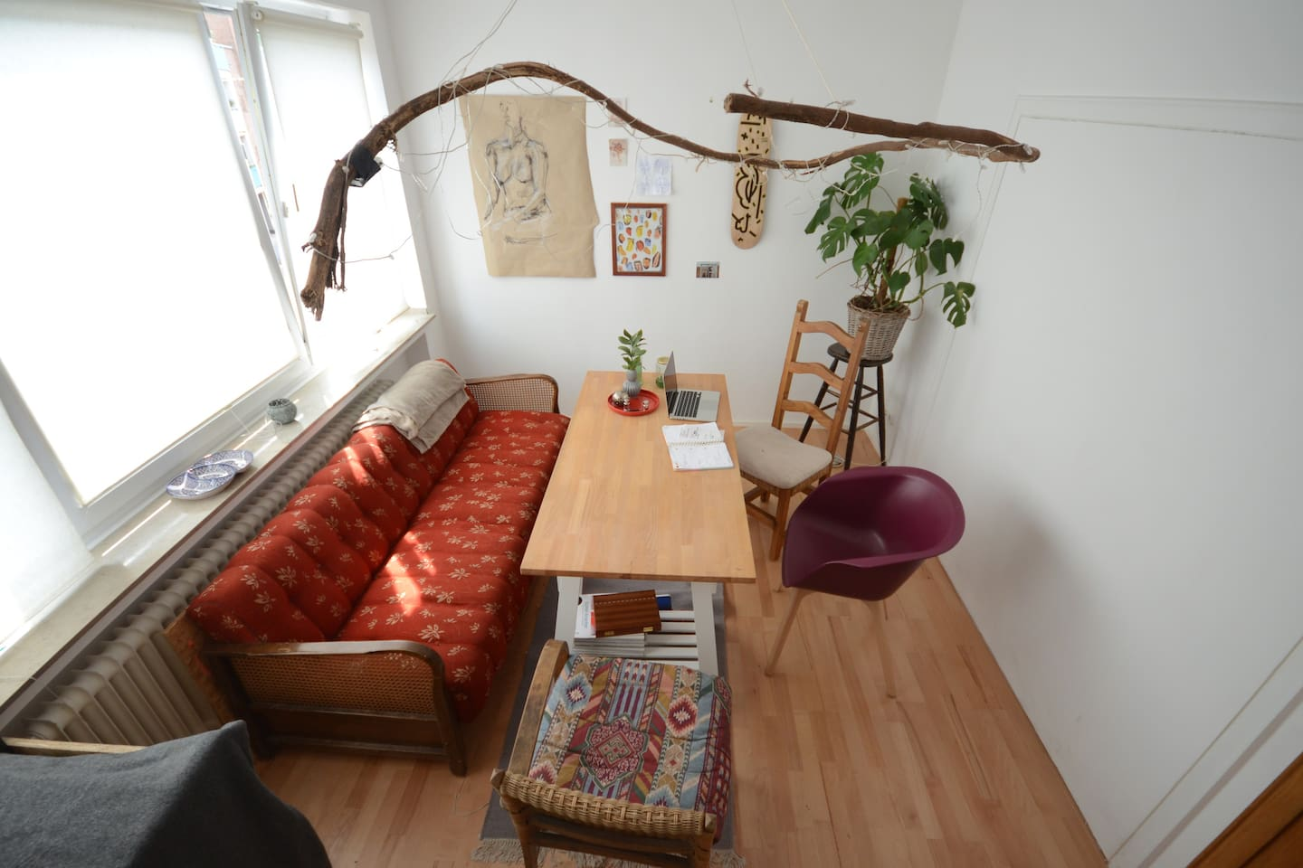 Unser gemütliches offenes Ess/Wohnzimmer. Our cosy open  shared Space Living/Dining Rom