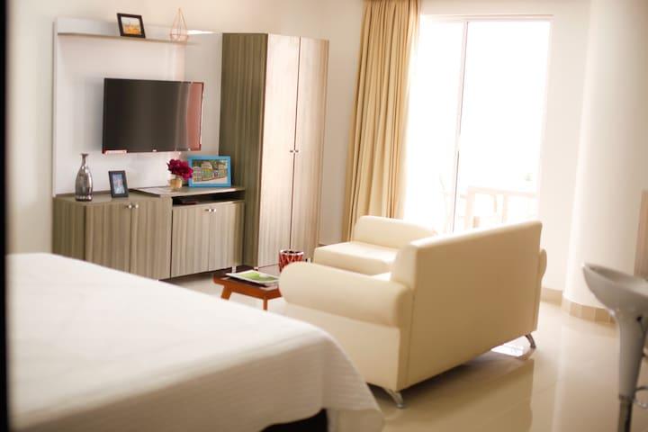 Suite con balcón, Nueva