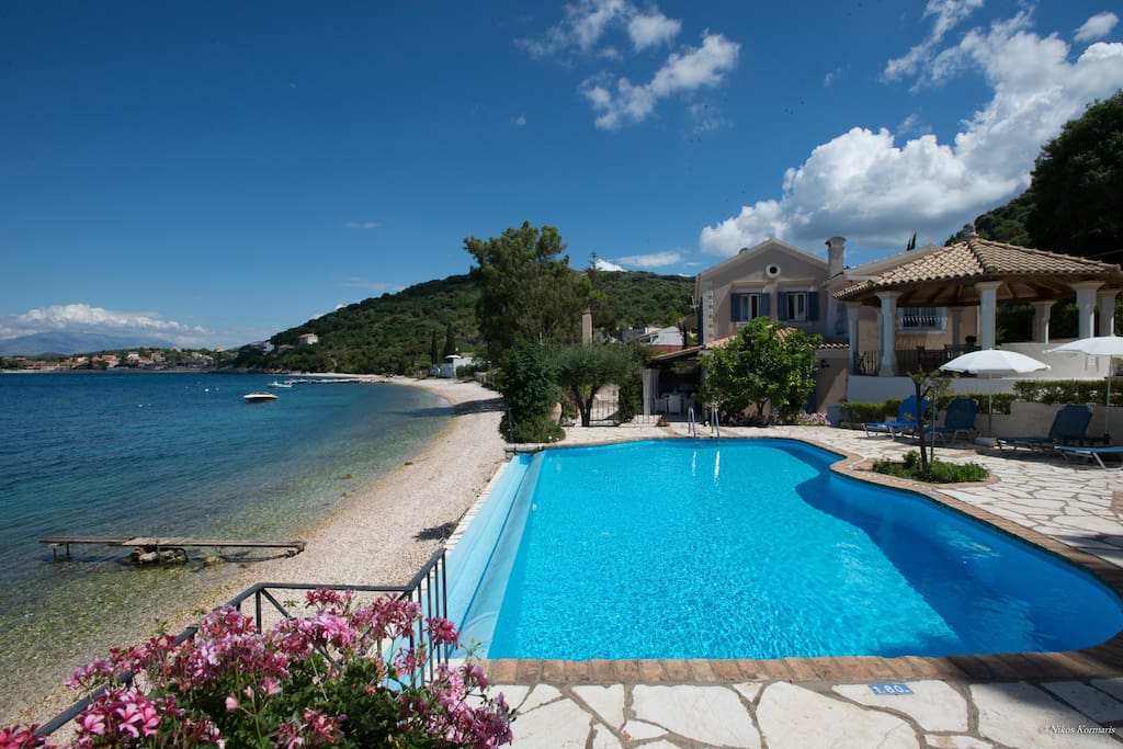Beach Villa Imerolia in Kassiopi,Corfu ,Greece