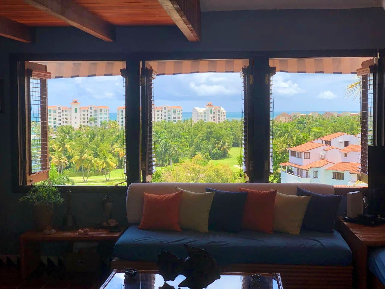 Welcome to our small piece of Paradise! Wake up to this stunning view of the Atlantic Ocean and Rio Mar's Ocean Golf Course.