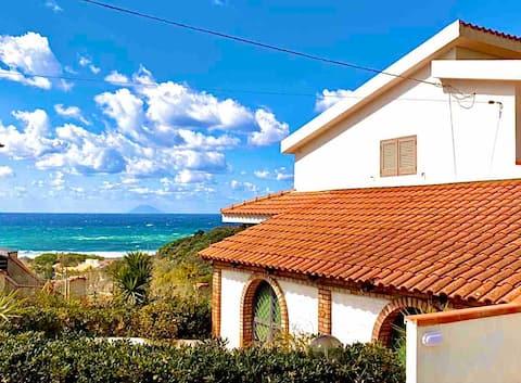 Appartamento in villa a Capo Vaticano 500mdal mare